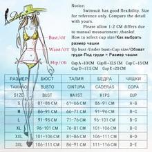 Miyouj Ruffle Bikini Off Shoulder Floral Swimsuit Bandage Bow Swimwear Push Up Biquini Feminino Bathing Suit Women Bikini Set
