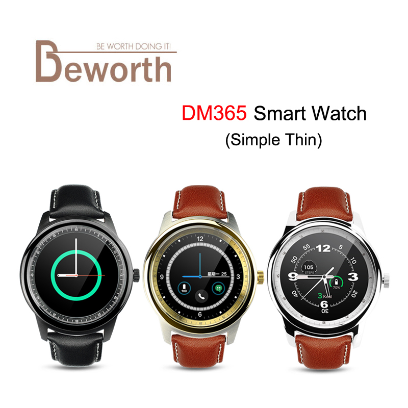 DM365 Smart Watch MTK2502A Full HD IPS Capacitive Touch Screen Bluetooth 4.0 Support Android & IOS Smartwatch Upgrate of DM360