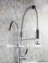 Chrome Палуба Гора Новый Выдвижной Кухня Ванная комната мойка кран спрей поворотный одной ручкой смеситель JN8525-1