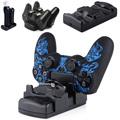 3 in 1 Controller Charger Station Dock Stand for Sony PS4 PS3 Controller PS3 Move Controller