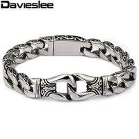 CUSTOMIZE SIZE 15MM 316L Stainless Steel Boy S Bracelet Silver Tone Mens Boys Bracelet Wholesale Jewelry