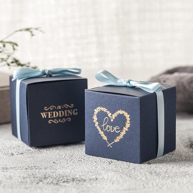 Hoogwaardige 50 stuks bruiloft gunsten en geschenken geschenkdozen paper candy box huwelijksgeschenken voor gasten verpakking party decoratie