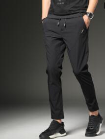 Été hommes pantalons jeunes hommes sport pantalon style pantalon décontracté mince style hommes pantalons-ghb-TS88