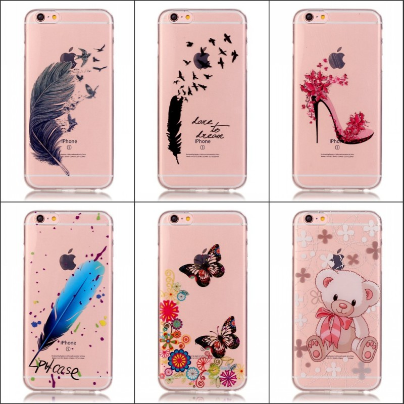 For Apple iPhone6 S 6Plus 5.5 Soft IMD TPU Silicone Phone Case inch Ultra Thin Gel Cartoon Painting Back Covers