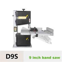 9 Inch Band Saw Machine D9S Multifunctional Woodworking Band Sawing Machine Household Curve Saw Work Table Saws 220V 500W 15m/s