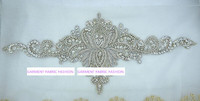 Ethnic Indian Silk Wedding Dress Handmade Embroidered Silver And Gold Rhinestone Applique Clothing Belt Accessories