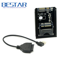 (50 pieces/lot) SATA 22Pin to USB 3.0 to CFast Card adapter 2.5 inch Hard Disk Case SSD HDD CFast Card Reader for PC Laptop