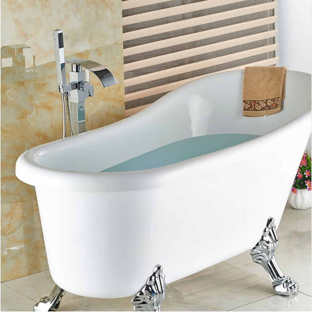 US Free Shipping luxury Freestand Floor Mounted Clawfoot Bath Tub ...