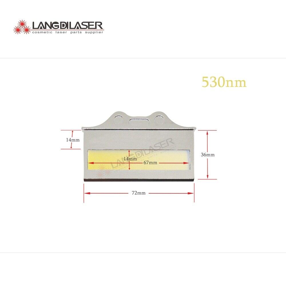 530 1200nm OPT filter IPL laser optic filters for skin rejuvenation