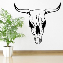 Hot Selling Wall Sticker Bull Totenkopf Vinyl Mural Home Room Cool Decor Art Wandkunst Aufkleber D-241