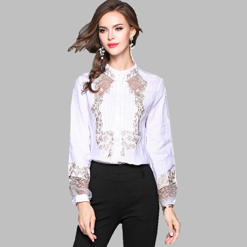 aa78ebfa9a Newest Fashion 2018 Runway Designer Tops Blouse Womens Sexy Deep V Neck  Lantern Sleeve Ruffle Blouse ...