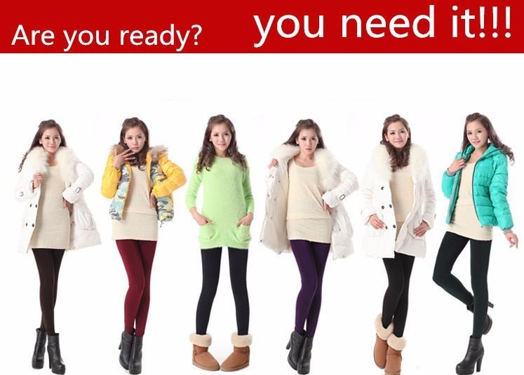 8 Colors S-XL Winter Plus Cashmere Leggings Woman Casual Warm Big Size Faux Velvet Knitted Thick Slim Super Elastic Leggings 8