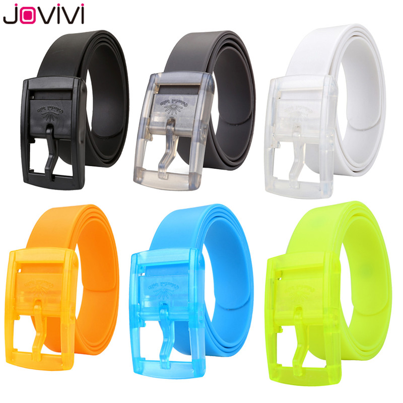 Jovivi 1pc Unisex Rubber Golf Pants Belts For Men Adjustable Cut-to-fit Waterproof Plastic Prevent Allergy Belt Fashionable Belt