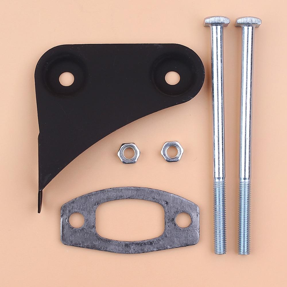Muffler Screw Bolt Bracket Gasket Repair Kit Fit Husqvarna 50 51 55 Rancher Gas Chainsaw Spare Parts