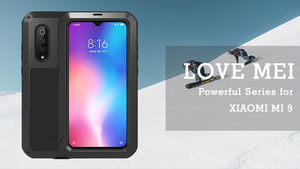 Image 1 - LOVE MEI Aluminum Metal Case For Xiaomi Mi 9 Cover Powerful Armor Shockproof Life Waterproof Case Xiaomi Mi9 Explorer Capa Funda