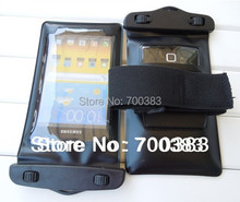2 Piece Telephone Waterproof Bag Armband Journey Clear waterproof Pouch tearproof Case For cell phone Water-proof armband