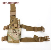 Multicam acu camuflagem pistola gota perna coldre tático militar airsoft pistola coxa coldre para destro|military tactical holster|thigh pistol holster|holster for gun -