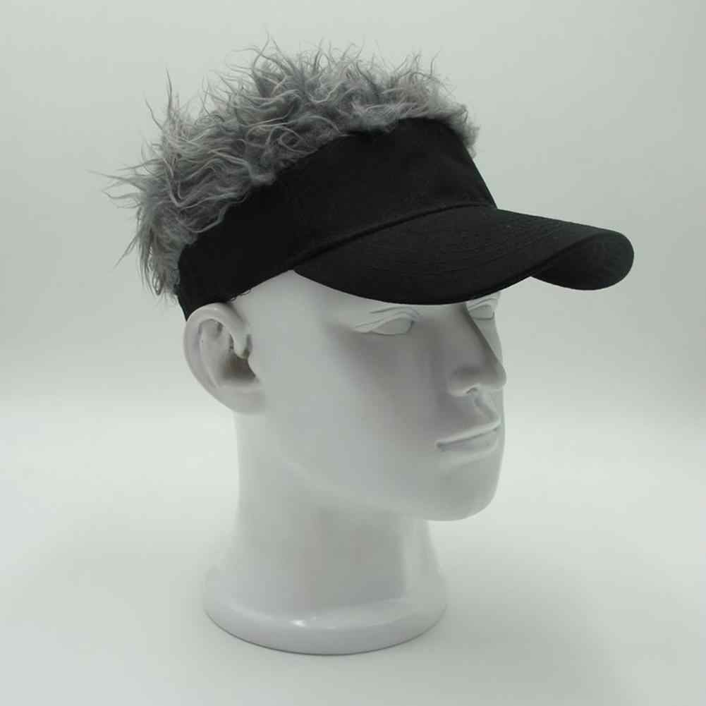 Mounchain Funny Duck Tongue Sun Peaked Cap Hip-hop Sunshade Golf Cap Creative Wig Baseball Hat