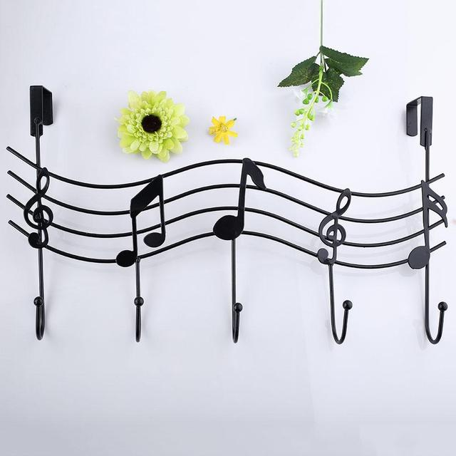 Music Wall Hook Door Hanger Kitchen Storage Rack Cupboard Hanging Hook Shelf Dish Shelf Bathroom Organizer  sc 1 st  AliExpress.com & Music Wall Hook Door Hanger Kitchen Storage Rack Cupboard Hanging ...
