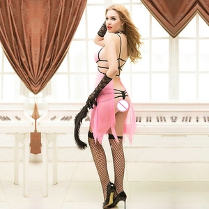 Image 2 - JSY sexy women royal lingerie underwear pink thin babydoll smooth and soft high grade erotic dress ladies sex suits 9778