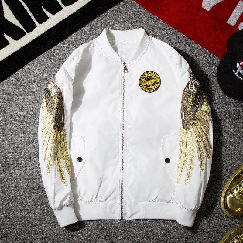 f6bdcb91921 Description  Specification  Reviews (0). Spring Autumn Fashion Men Bomber  Jacket Hip Hop Patch Designs Slim Fit Pilot Bomber ...