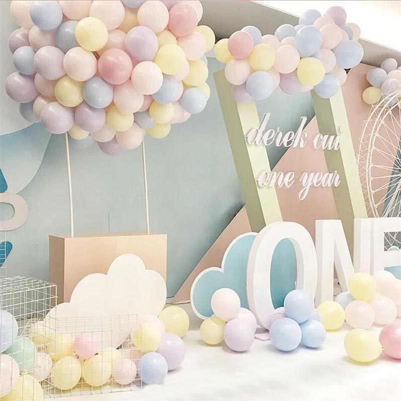 100pc/lot 5/10 inch Macaron Latex balloons Wedding Birthday Decoration Globos Baby Shower Girl Birthday Party Helium Balloon New