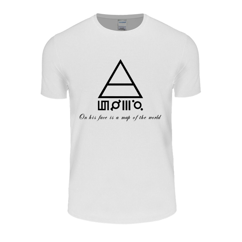 30 Seconds To Mars T Shirts Men On His Face Is A Map Of The World