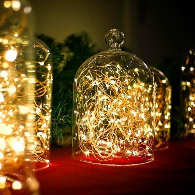 ed98689465a LED guirnalda 2 M 20LED batería de alambre de cobre Alambre de Navidad  Cadena de luz