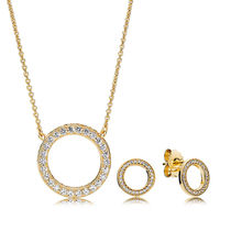 cc85b30c2 2018 100% 925 Sterling Silver Shine Forever Necklace Set Fit Charm Original  Necklace A Set of Prices Designer Jewelry Luxury
