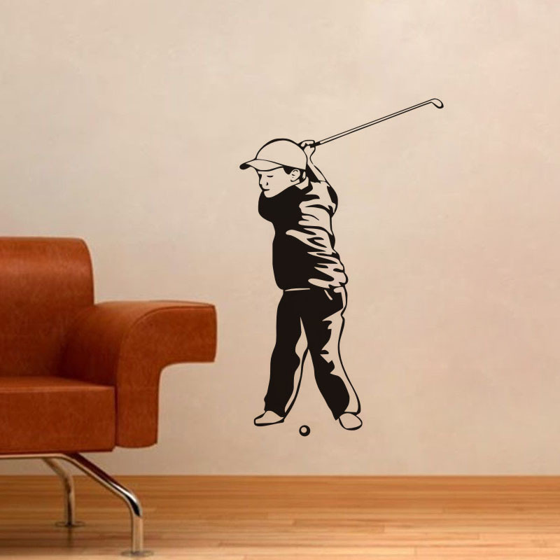 Office Pictures For Walls Golf: Home Decoration Wallpaper Cute Kids Golf Wall Decals Sport