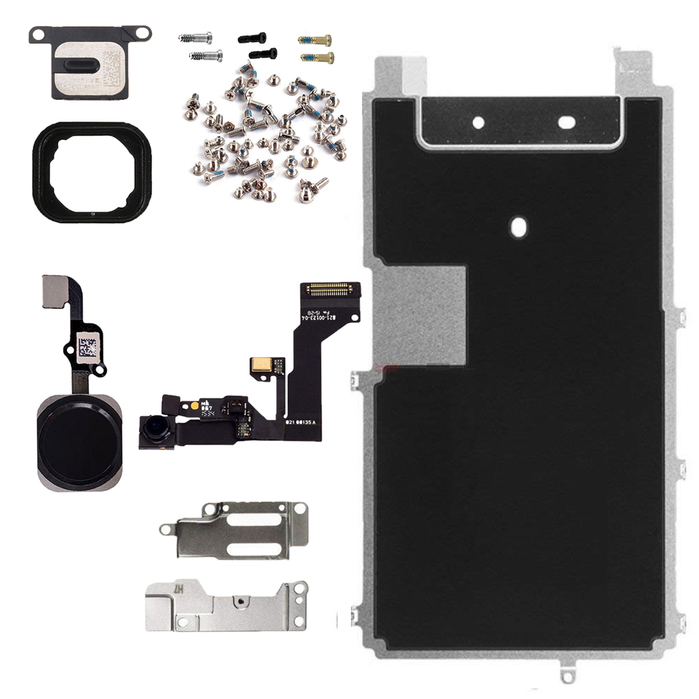 HOUSTMUST Full Set Repair Parts For iphone 6s Plus LCD Screen Metal Plate Parts Front Camera Ear Speaker home button +screws image