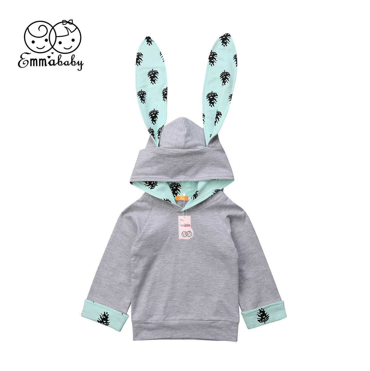 bf77f1f26 Toddler Baby Boy Girl Winter Jacket Rabbit Hoodies Outwear Snowsuit Coat  Clothes