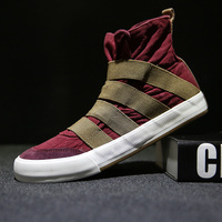 SENTA Hot Sell High Top Men Sneakers Canvas Shoes Spring Solid Comfortable Boys Walking Outdoor Sport Shoes Skateboard Shoes