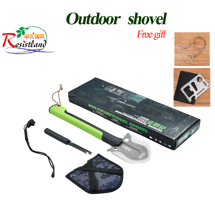 Multi-functional Military Folding Shovel Spade Garden Camping Hiking Outdoor Survival Tool