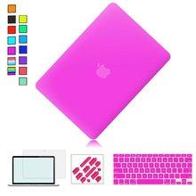 Matte/Clear Hard Case For Apple macbook Air Pro Retina 11 12 13 15 Laptop Bag For Mac Book Pro 11.6 13.3 15.4 inch Laptop Case