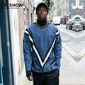VIISHOW New men sweatshirt male tracksuit hooded jacket casual Denim pullover Hip Hop Sweatshirt Street Wear Harajuku Sweatshirt
