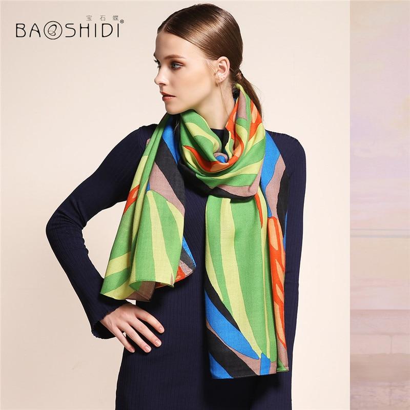 [BAOSHIDI]100% Wool Scarfs, Luxury Brand Scarves, Scarf Women Fashionable,winter Scarves,infinity Shawl,blanket Hijab Woman