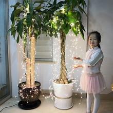 ac100 240v 2 m 200 leds copper boom licht met power adapter waterdichte fairy decoratie 10 takken outdoor verlichting voor tuin
