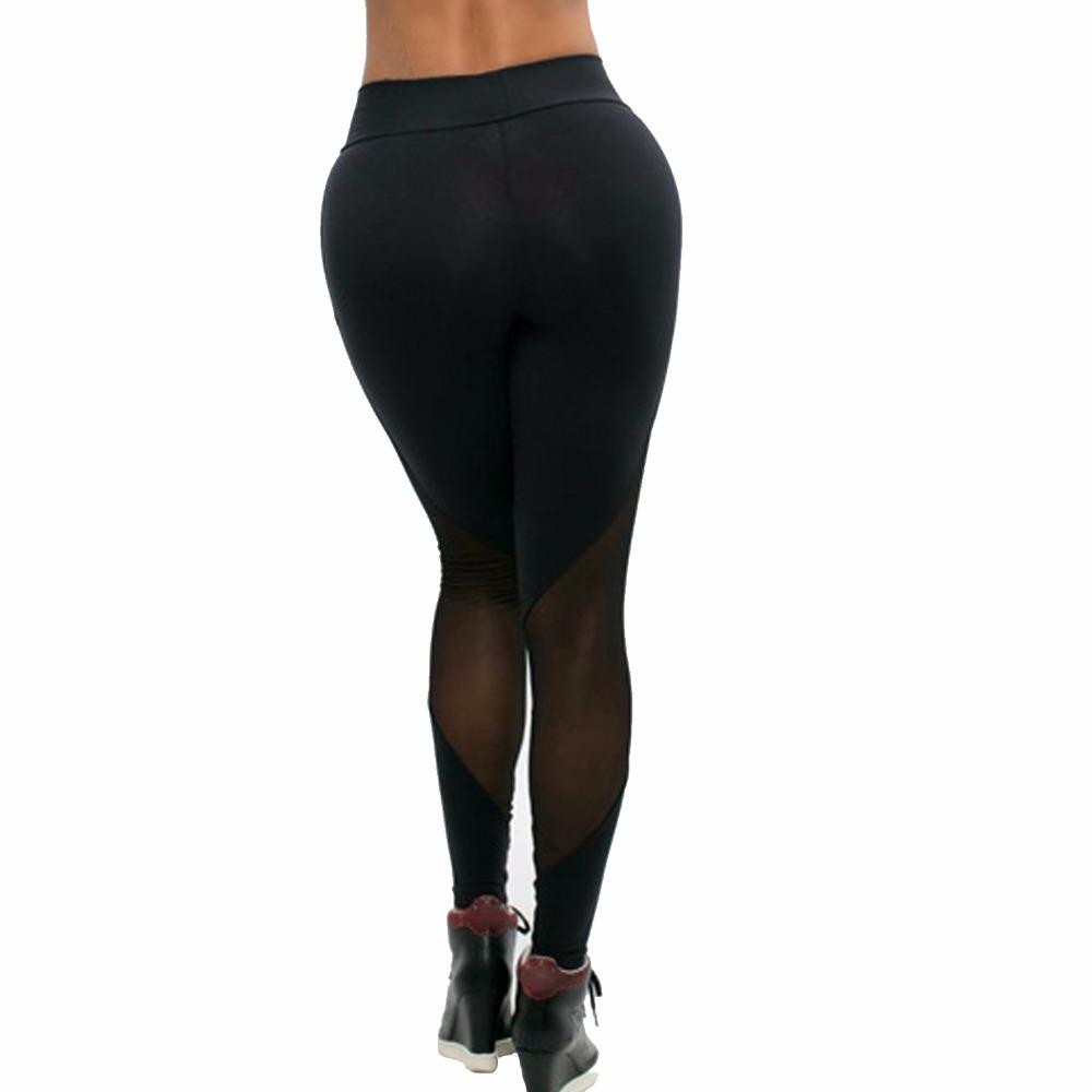 Nueva ropa deportiva Casual Leggings Gimnasio Leggings Pantalones de  Entrenamiento de Malla Insertar Leggings mujeres empalme Elástico harajuku  ... b4d68af85e46