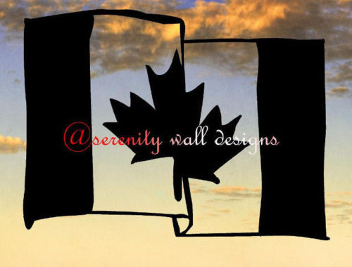 New Fashion Canada Vinyl Wall Decal Canadian Flag Word