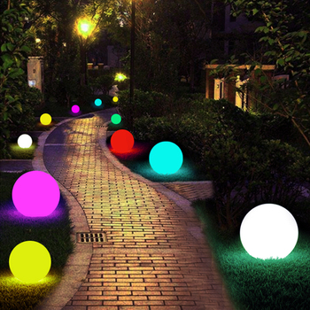 BEIAIDI IP65 Outdoor Garden Lawn Pathway Globe Ball Light Remote Dimmable LED Glowing Ball Night Light RGB KTV Bar Table Lamp