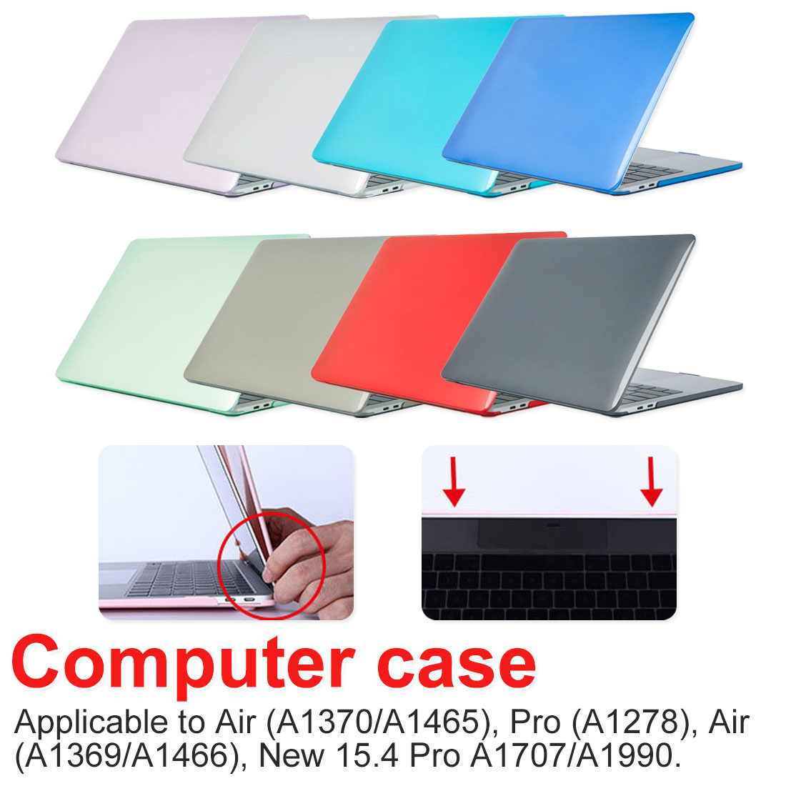 Hot sale Crystal Transparent Case waterproof For Macbook Pro Air 11 12 13 15 For Mac Air 13 New pro 13 15 Laptop Cover shell image