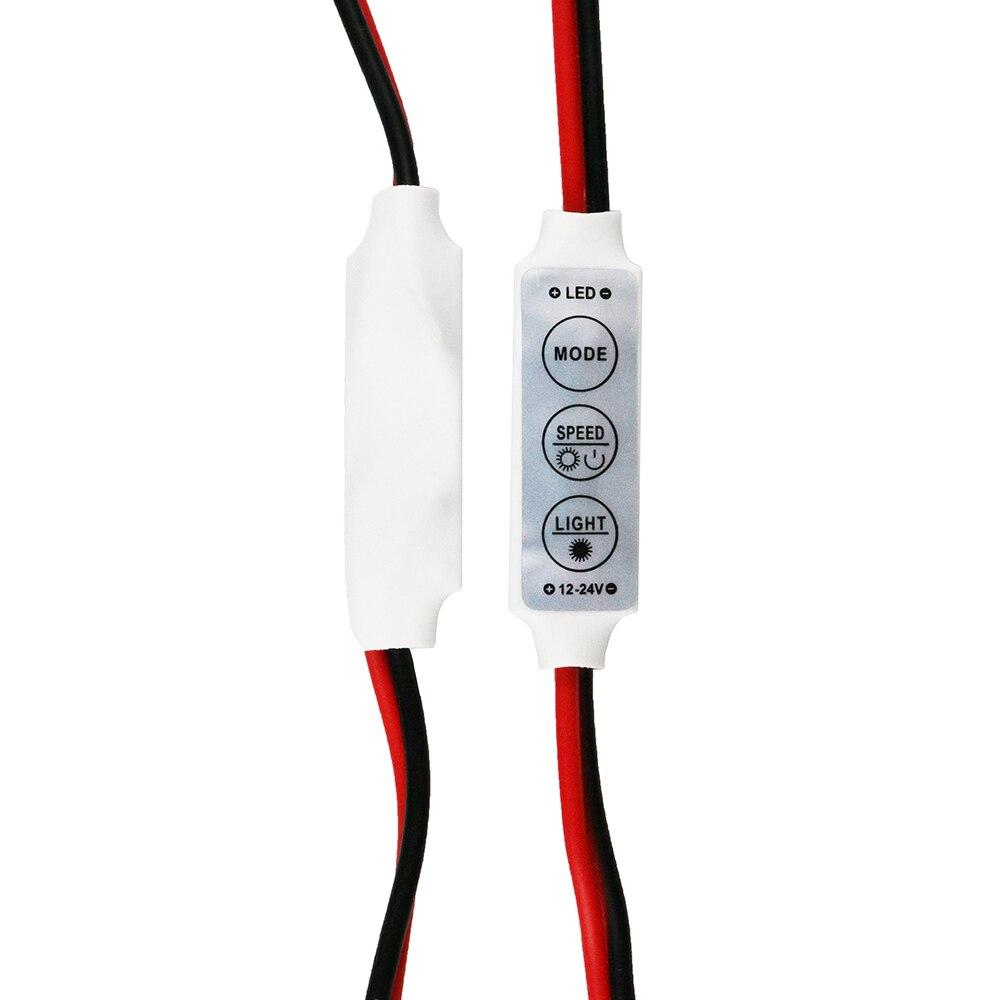 Novo 12 v mini 3 teclas de cor única led controlador brilho dimmer para led 3528 5050 tira luz atacado 1 pcs dj