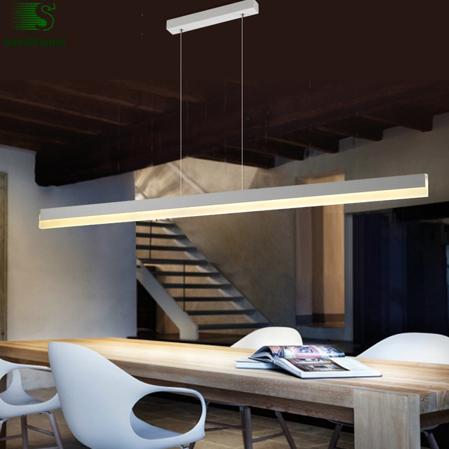 Modern Straight Luminaria Led Pendant Lights Indoor Lighting Lamparas Hanging Light Re Fixtures Suspension