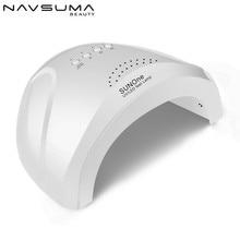 d24852d5e49 NAVSUMA sol uv lámpara led de uñas de gel uv polaco lámpara para manicura  sol uv lámpara led de uñas secador de 48 W