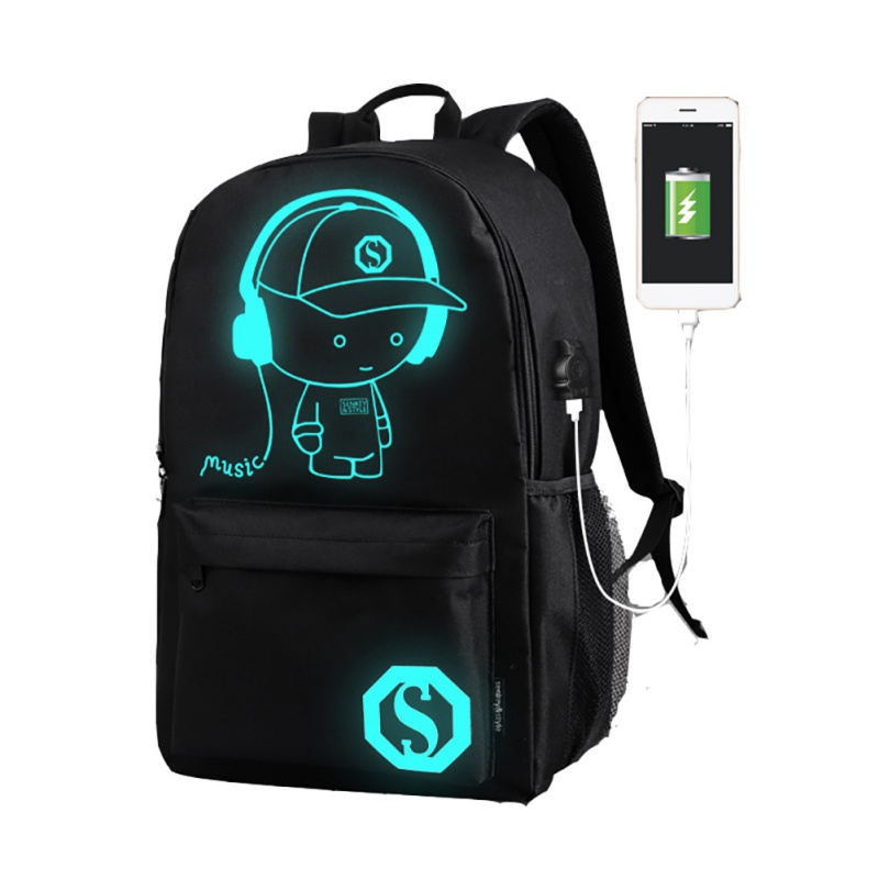 Student Backpack Gym Bag Luminous Animation For Teenager Usb Charge Computer Anti-Theft Laptop Backpack Outdoor Backpack ozuko multi functional men backpack waterproof usb charge computer backpacks 15inch laptop bag creative student school bags 2018