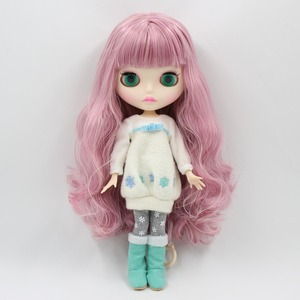 Image 2 - Fabriek 1/6 Blyth Pop Speelgoed Bjd Joint Body Mix Roze Haar Witte Huid Joint Body Gift 1/6 30Cm 280BL1063/2352, naakte Pop