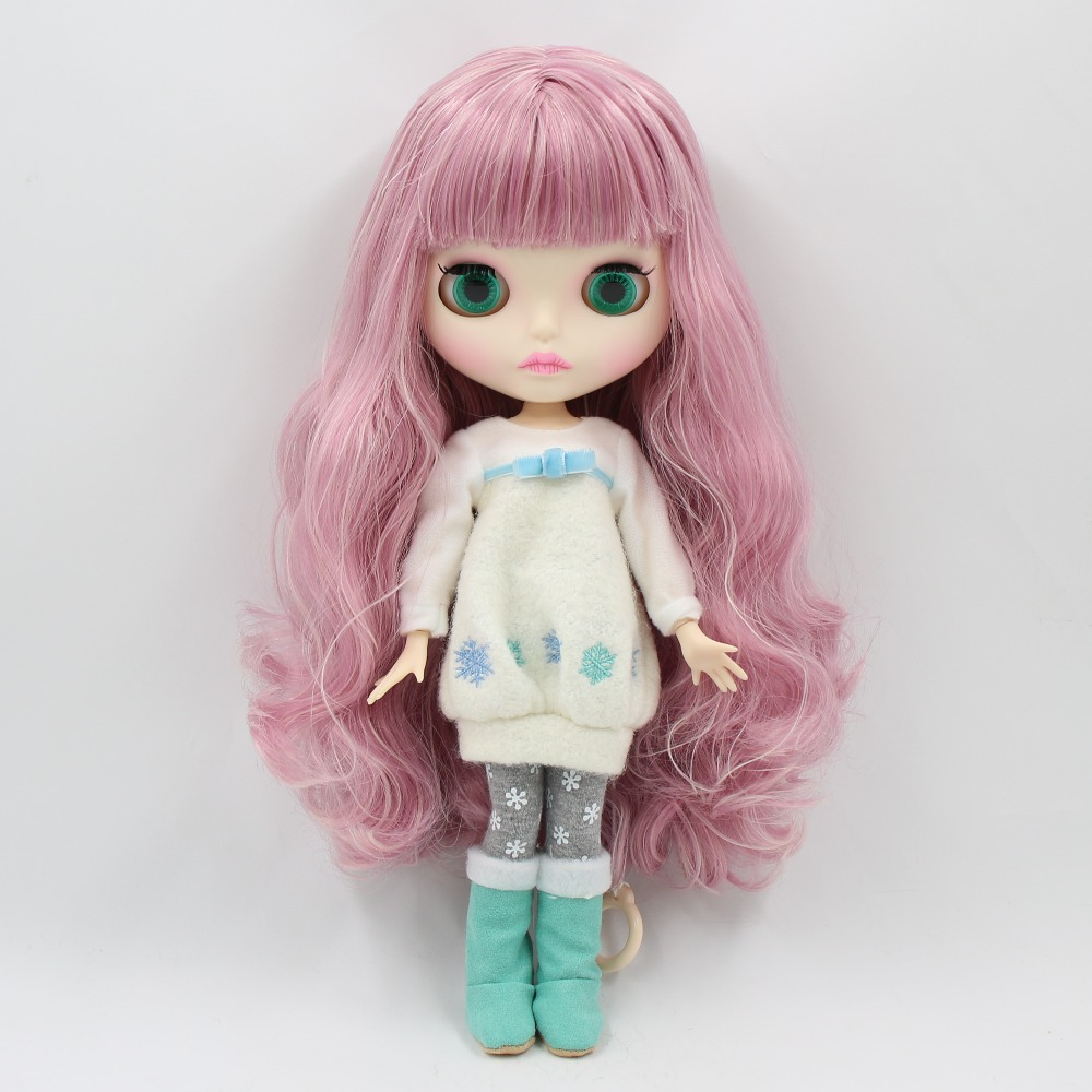 Image 2 - factory 1/6 blyth doll toy bjd joint body mix pink Hair white skin joint body gift 1/6 30cm 280BL1063/2352, naked dollDolls   -