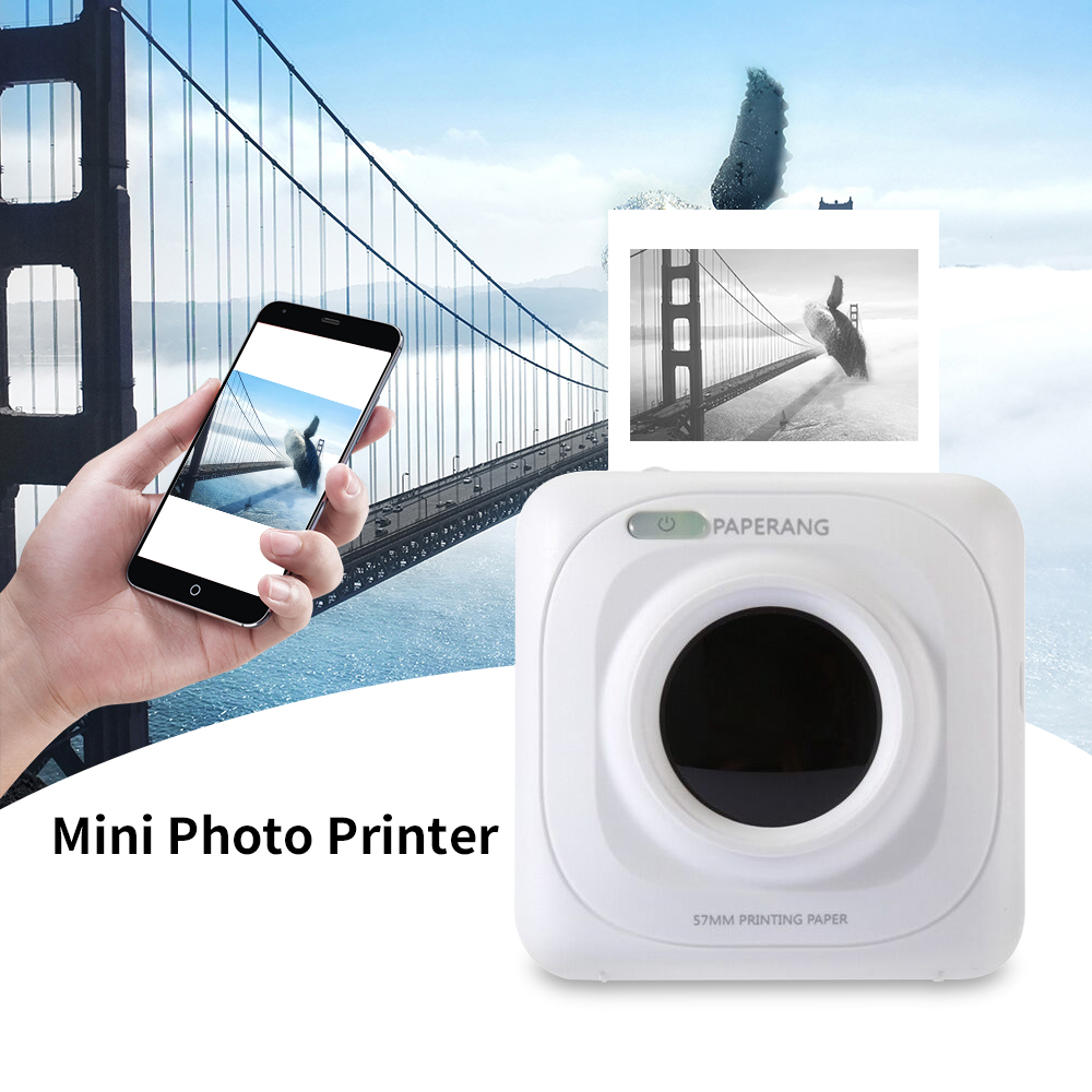 Portable Bluetooth Printer 58mm Mini Thermal Photo Printer For Mobile Phone Pocket Printer For iOS Android Windows 1000 mAh(China)