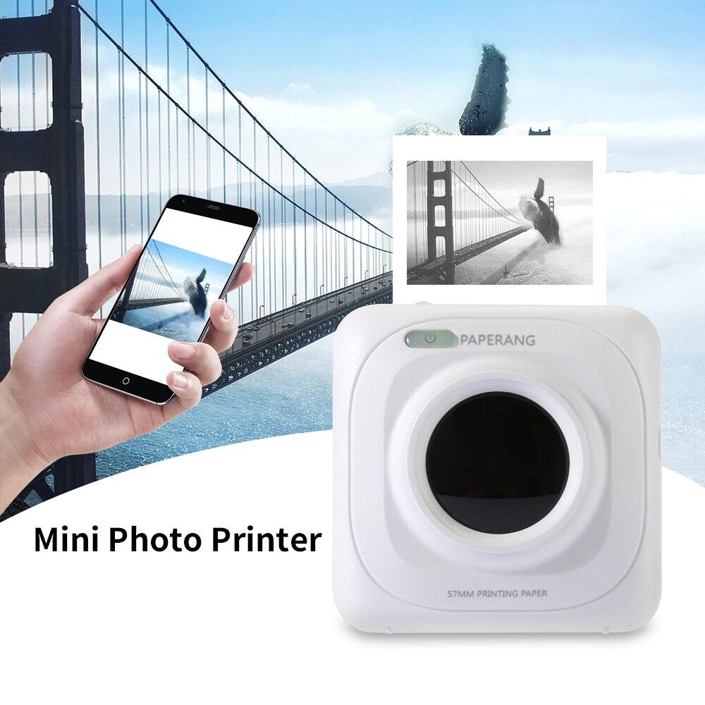 מדפסת Bluetooth ניידת מיני אלחוטי קופה תרמית עבור טלפון נייד iOS, אנדרואיד כיס מדפסת 1000 mAh סוללה
